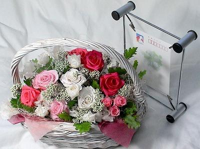 「お疲れ様で賞」のご注文です。お花を見て元気を回復。